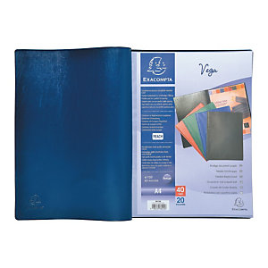 Protège-documents VEGA - 50 pochettes - Bleu
