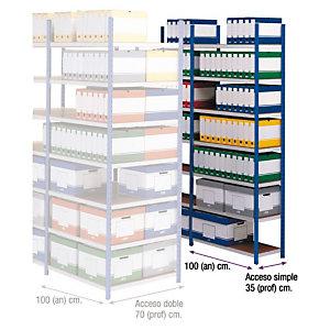 PROVOST Estantería de archivo Maxipro - módulo adicional 100 (an) x 35 (prof) cm.