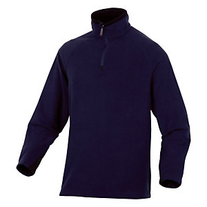 Sous-pull en laine polaire bleu Alma, DeltaPlus, taille L