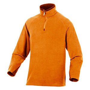 Sous-pull en laine polaire orange Alma, DeltaPlus, taille XL