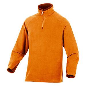 Sous-pull en laine polaire orange Alma, DeltaPlus, taille L