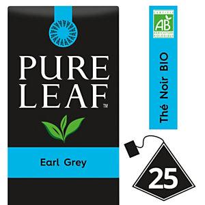 PURE LEAF Thé noir Earl Grey - 25 sachets pyramide - Pack promo : 2 boîtes + 1 OFFERTE