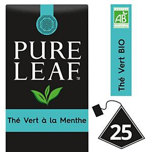 PURE LEAF Thé vert à la Menthe - 25 sachets pyramide - Pack promo : 2 boîtes + 1 OFFERTE