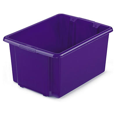 Purple stack and store plastic containers
