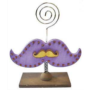 PW INTERNATIONAL Porte-photo en bois moustache format 100 x 40 x 120 mm, à décorer