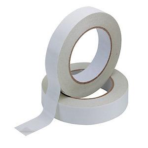 Q CONNECT Cinta adhesiva de doble cara, polipropileno, blanco, 25 mm x 33 m