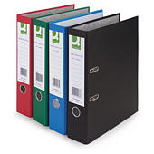 Q-Connect coloured Lever arch files