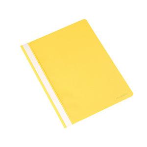 Q CONNECT Dossier fástener, capacidad para 30 hojas, PVC, A4, amarillo