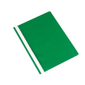 Q CONNECT Dossier fástener, capacidad para 30 hojas, PVC, A4, verde