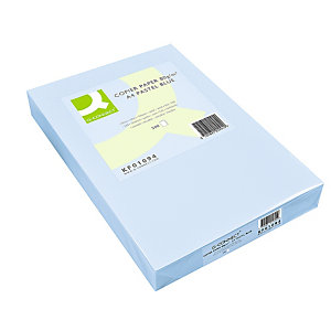 Q CONNECT Papel de colores para Faxes, Fotocopiadoras e Impresoras de Inyección de Tinta y láser, Azul Celeste A4 80 g/m²