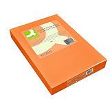 Q CONNECT Papel de colores para Faxes, Fotocopiadoras e Impresoras de Inyección de Tinta y láser, Naranja A4 80 g/m²