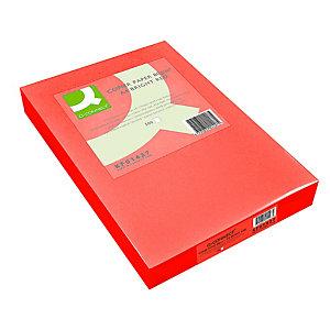 Q CONNECT Papel de colores para Faxes, Fotocopiadoras e Impresoras de Inyección de Tinta y láser, Rojo A4 80 g/m²