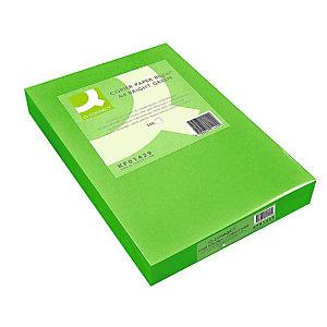 Q CONNECT Papel de colores para Faxes, Fotocopiadoras e Impresoras de Inyección de Tinta y láser, Verde oscuro A4 80 g/m²