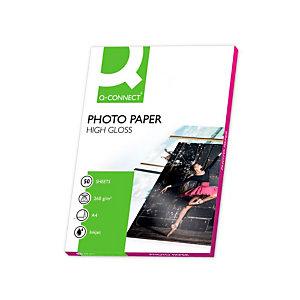Q CONNECT Papel fotográfico para impresoras inkjet, Blanco Brillante A4 260 g/m2