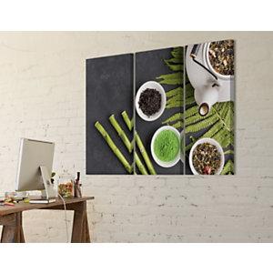 Quadro fonoassorbente Trittico Bambù, 120 x 120 cm