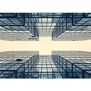 Quadro fonoassorbente Trittico Grattacielo, 120 x 120 cm