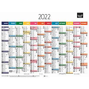 QUO VADIS Calendrier mural annuel 12 mois - 55 x 40,5 cm - 2022