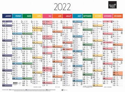 Calendrier Des Postes 2022 QUO VADIS Calendrier mural annuel 12 mois   55 x 40,5 cm   2022