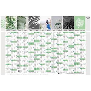 QUO VADIS Calendrier mural annuel Equology - 14 mois sur une face - 65 X 43 cm - 2022