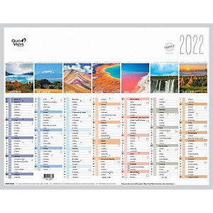 QUO VADIS Calendrier mural annuel Fantaisie La Terre - 27 x 21 cm - 2022