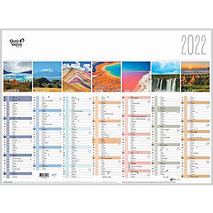 QUO VADIS Calendrier mural annuel Fantaisie La Terre - 55 x 40,5 cm - 2022