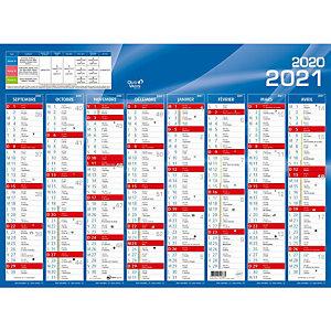 QUO VADIS Calendrier mural annuel Rentrée des classes - 27 x 21 cm - 2020/2021