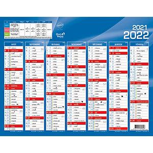 QUO VADIS Calendrier mural annuel Rentrée des classes - 27 x 21 cm - 2021/2022