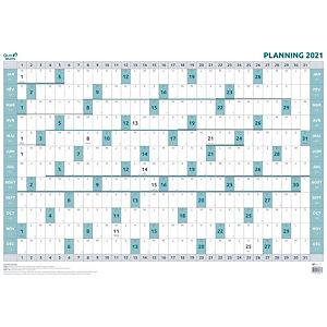 QUO VADIS Planning annuel souple effaçable à sec - 90 x 63 cm - 2021