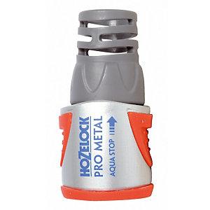 Raccord métallique Aquastop ø 12,5 à 15 mm  Hozelock