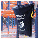 Racksack waste recycling and segregation bags