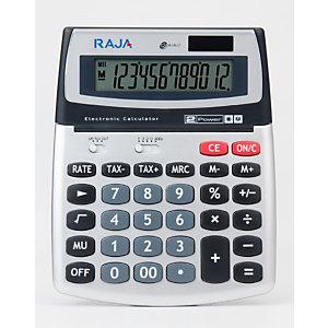 RAJA 560 Calculatrice de bureau 12 chiffres écran inclinable