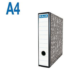 RAJA AZ Neoclas Archivador de palanca, A4, Lomo 70 mm, Capacidad 500 hojas, Cartón resistente recubierto de papel impreso, Negro jaspeado