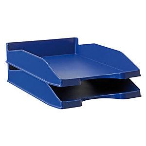 RAJA Bac à courrier A4 en polystyrène - bleu opaque