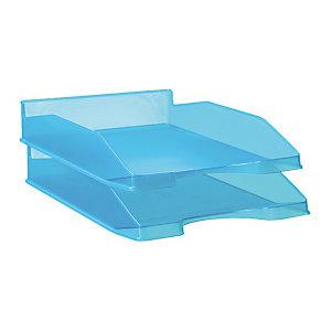 RAJA Bac à courrier A4 en polystyrène - bleu translucide