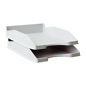 RAJA Bac à courrier A4 en polystyrène - gris opaque