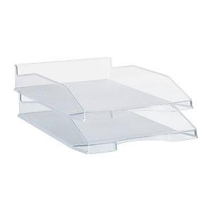 RAJA Bac à courrier A4 en polystyrène - transparent