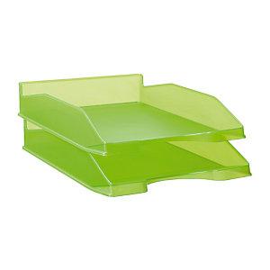 RAJA Bac à courrier A4 en polystyrène - Vert translucide