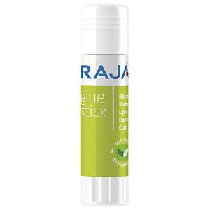 RAJA Barra adhesiva de pegamento biológica, sin disolventes, no tóxica, 20 g, transparente