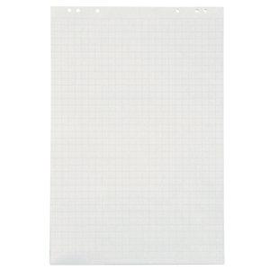 RAJA Bloc papier recyclé standard blanc quadrillé 60g - Bloc de 48 feuilles 65 x 100 cm