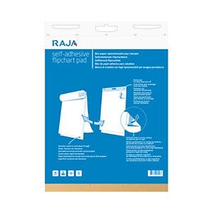 RAJA Blocco adesivo riposizionabile per lavagne portablocco, cm 63,5 x 76,2, Fogli Bianchi