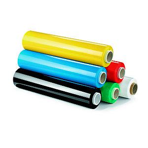 RAJA Bobine de film emballage étirable manuel cast - 45 cm x 300 m - Epaisseur 23 microns - Bleu