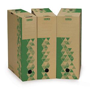 Raja Boîte archives carton recyclé Dos 10 cm - Kraft /Vert