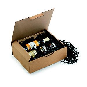 RAJA Boîte d'expédition brune en carton simple cannelure - L.int. 30 x l.24 x H.10 cm