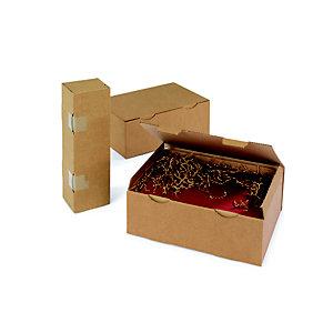RAJA Boîte d'expédition brune en carton simple cannelure - L.int. 35 x l.22 x H.13 cm