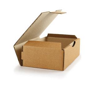 RAJA Boîte d'expédition en carton simple cannelure brun -  18 x 10 x 5 cm