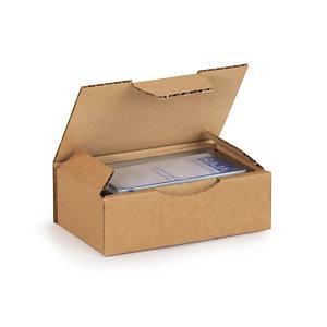 RAJA Boîte d'expédition en carton simple cannelure brun -  24 x 17 x 5 cm