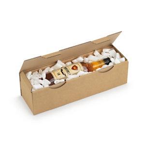 RAJA Boîte d'expédition en carton simple cannelure brun -  33 x 25 x 8 cm