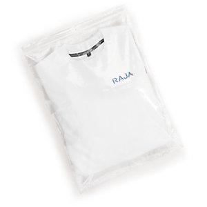 RAJA Bolsa de plástico transparente cierre zip, 40 x 60 cm (ancho x alto)