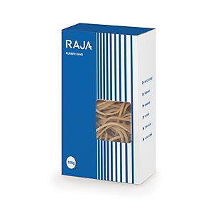 RAJA Bracelet élastique 120 x 2 mm en caoutchouc naturel - Boîte 100g