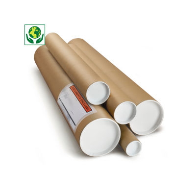 RAJA brown cardboard postal tubes